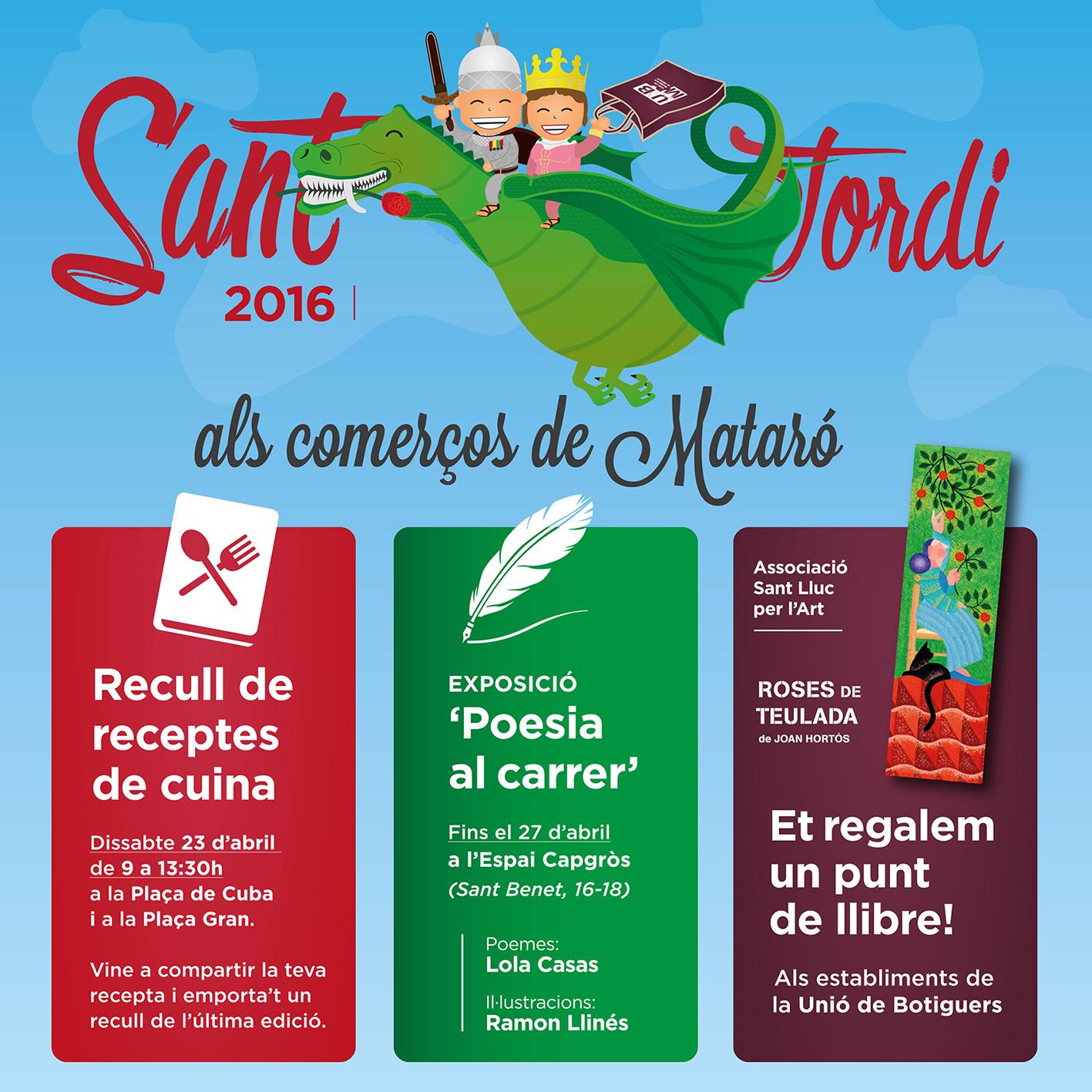 El Sant Jordi Arriba Als Comerços I Mercats De Mataró!