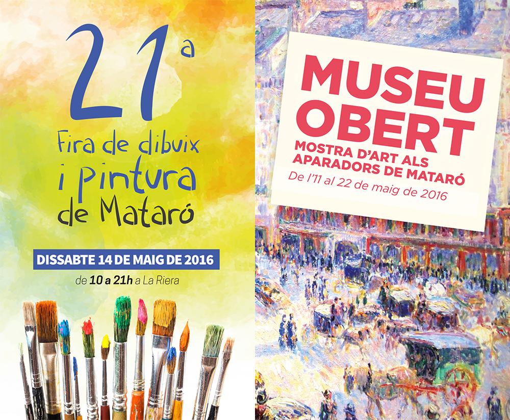 Museu Obert Als Aparadors De La Ciutat I 21a Fira De Dibuix I Pintura De Mataró